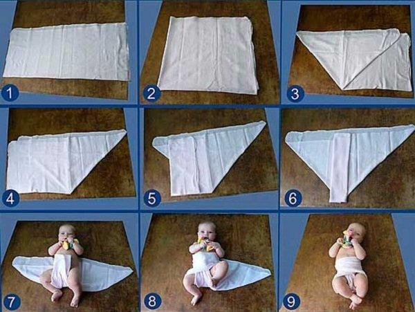 Как использовать подгузники для новорожденных