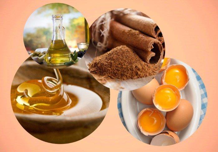 Маска для волос мед желток оливковое масло