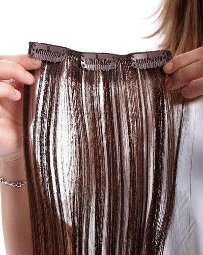Как называются искусственные волосы на заколках