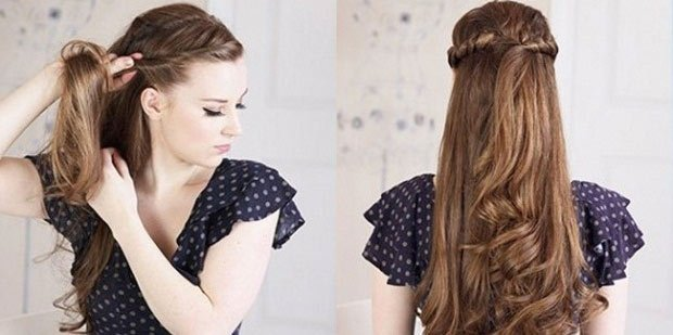 Причёска на каждый день для длинных волос своими руками