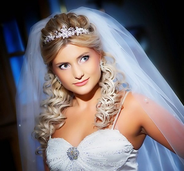 свадебные прически с накладными волосам без фаты