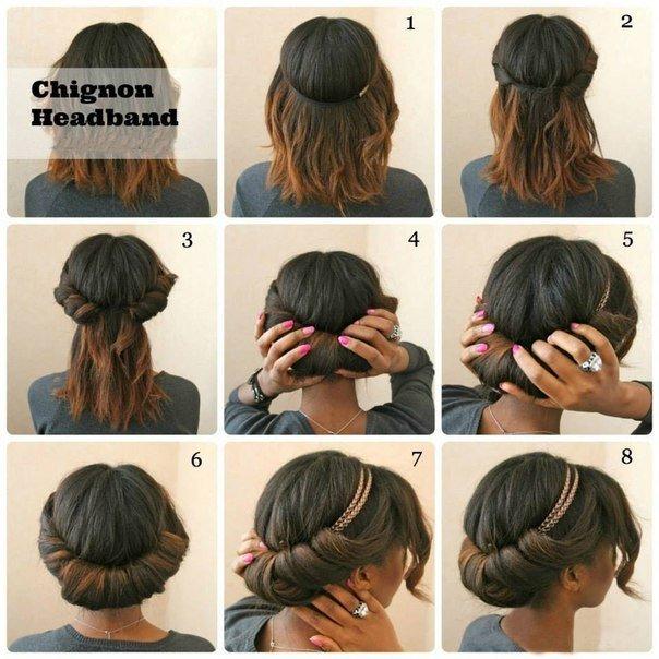 Пошаговые прически на средние и короткие волосы