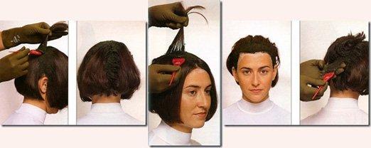 Как правильно нанести краску на волосы в  160