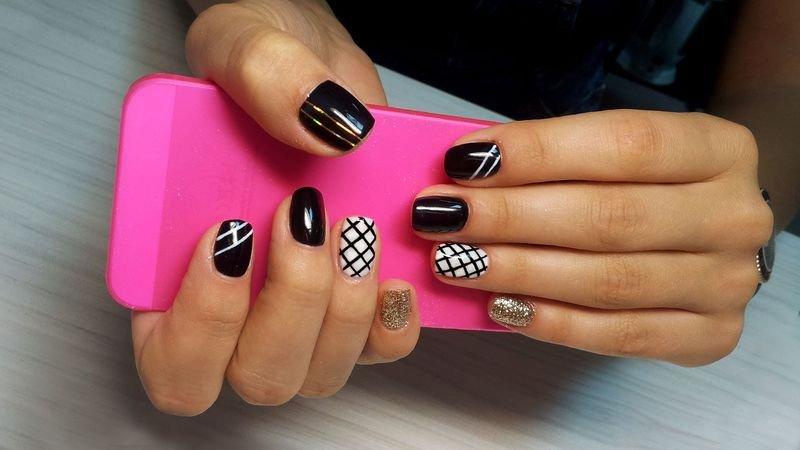 Простой дизайн ногтей шеллаком фото