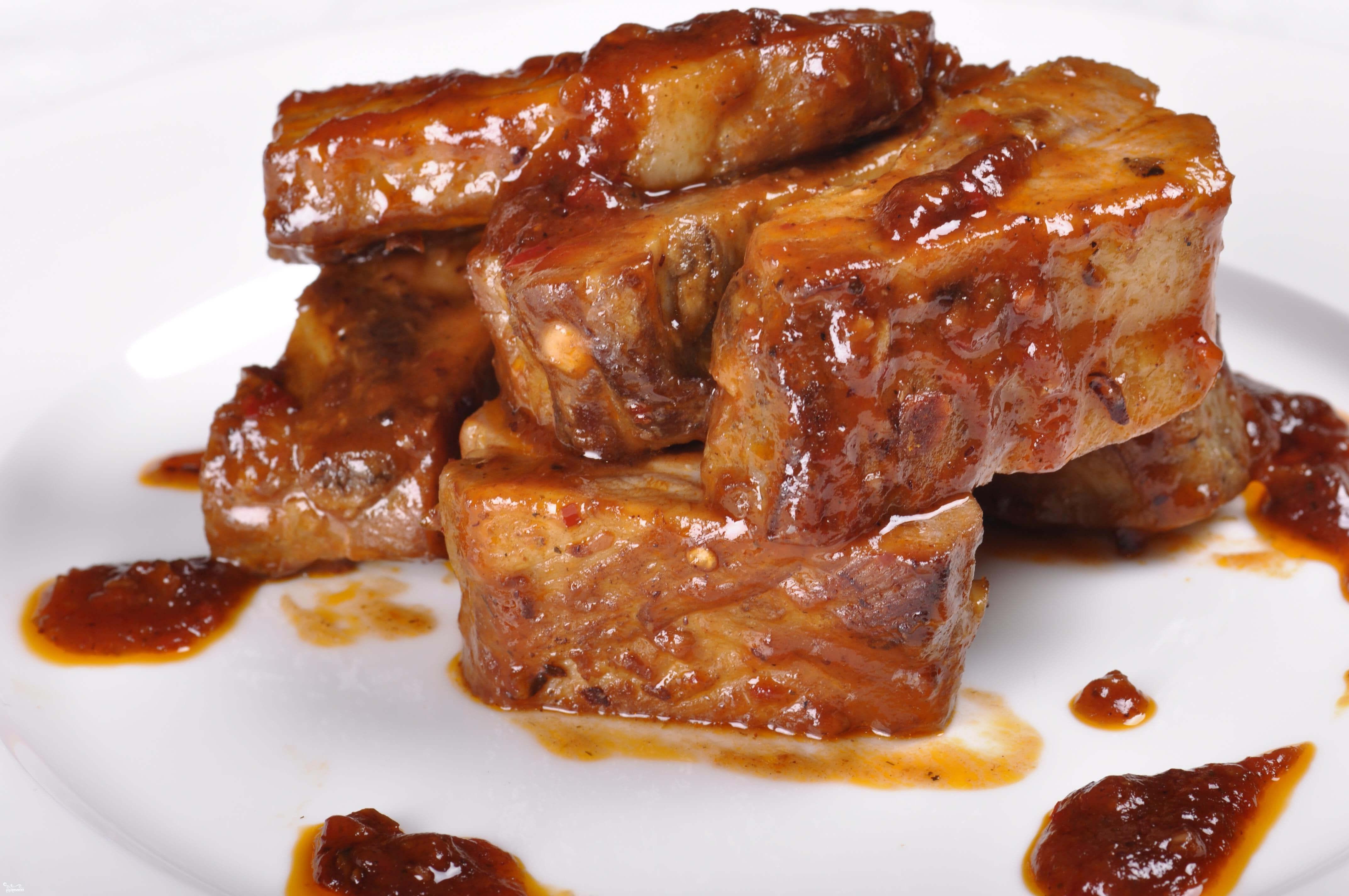 Свиные ребра с медом в духовке рецепт