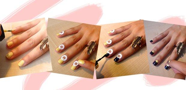 Как делать лунки на ногтях гель лаком