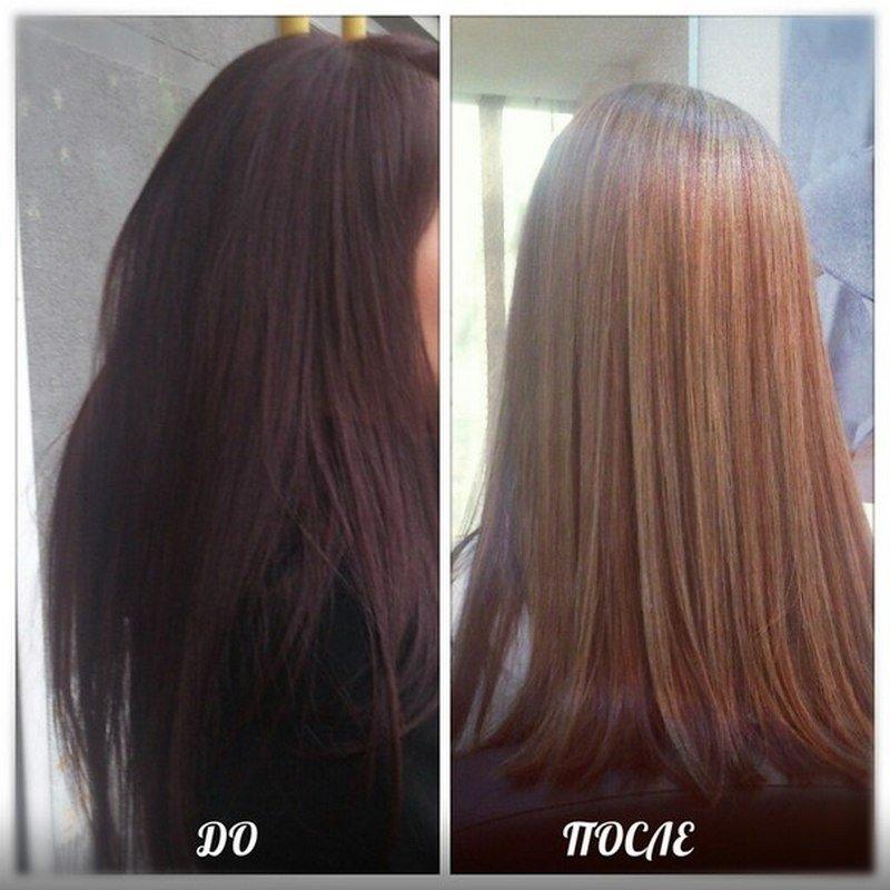 Осветляем темные волосы в домашних условиях 214