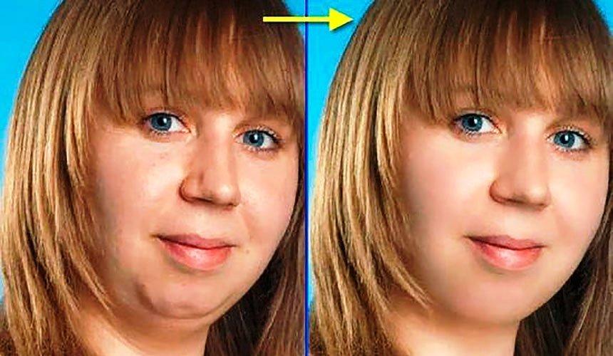 Как сделать чтобы щеки были не толстыми