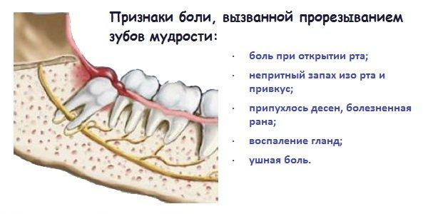 Растет зуб мудрости болит ухо