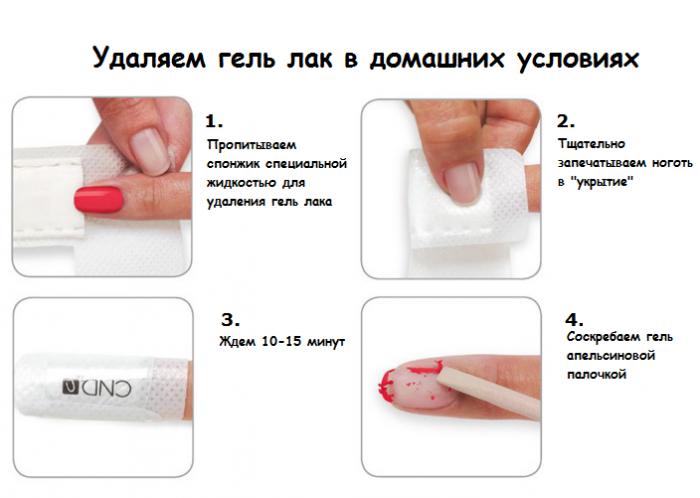 Как снять гелевые ногти в домашних условиях без спиливания 763