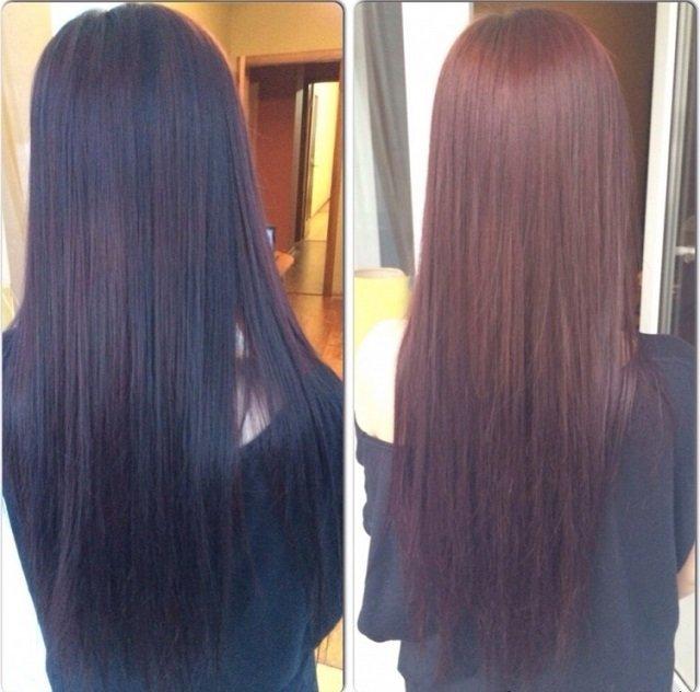 Как сделать смывку для темных волос 71