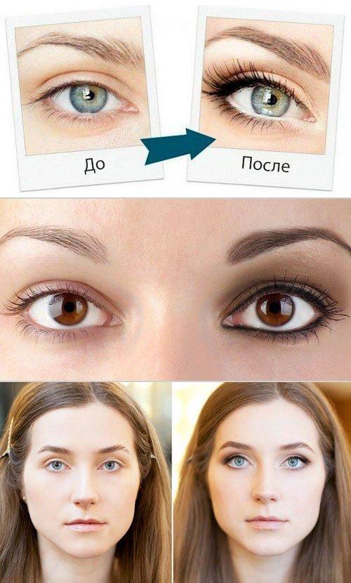 Как с макияжем сделать глаза больше 998