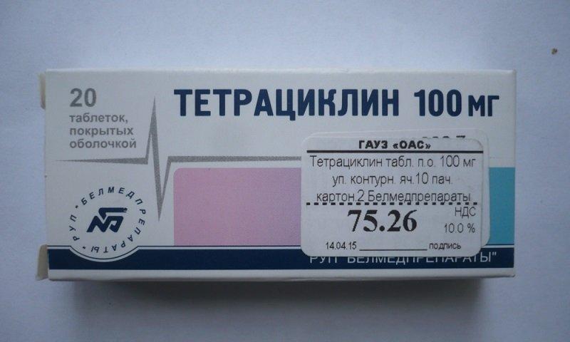 Применение тетрациклина таблетки при простатите
