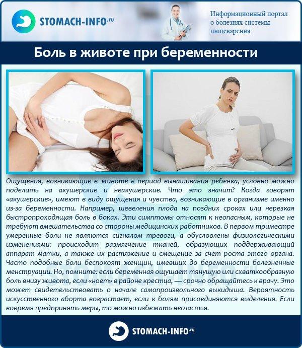 Почему при беременности потягивает низ живота 156