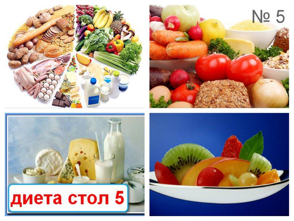 Питание на диете пятый стол
